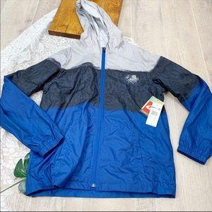 Quicksilver Zip Hooded Windbreaker Jacket 1827